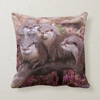 Small Clawed Otters Pillow