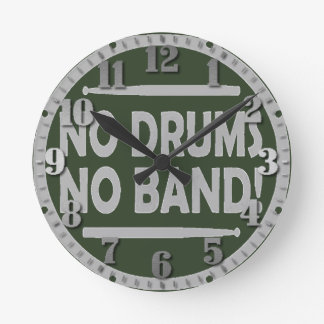 """Small clock of wall """"In drums in band """""""