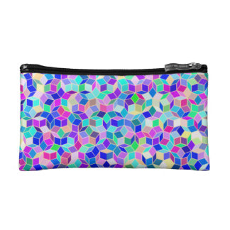 Small Coin Purse / Makeup Bag with Penrose Pattern
