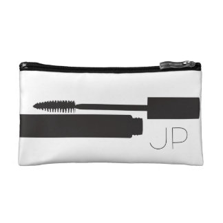 Small cosmetics bag - monogram initials cosmetic bag