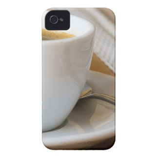 Small cup of espresso on a saucer with sugar iPhone 4 Case-Mate cases