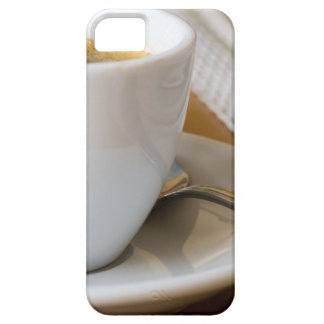 Small cup of espresso on a saucer with sugar iPhone 5 case