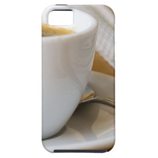 Small cup of espresso on a saucer with sugar iPhone 5 cases