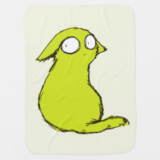 Small Cute Yellow-green Yokai Monster Swaddle Blankets