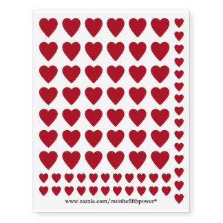 Small Dark Red Hearts