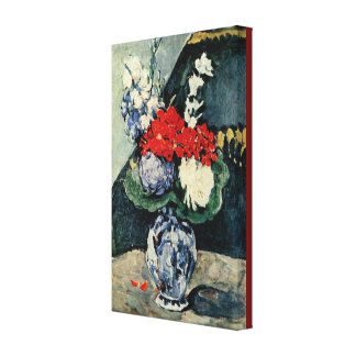 Small Delft Vase With Flowers by Paul Cezanne Canvas Print