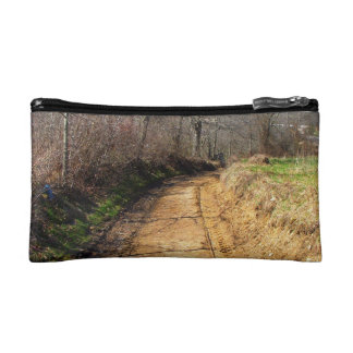 Small Dirt Country Road Cosmetic Bag