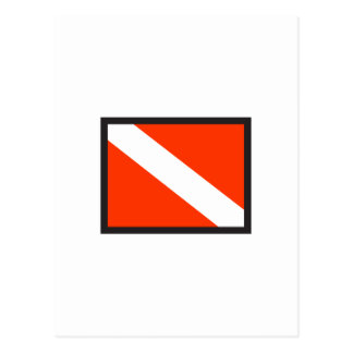 SMALL DIVE FLAG POSTCARD