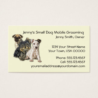 Small Dog Mobile Grooming 2012 Calendar Business C Business Card