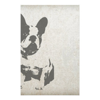 Small Dog Print graphic Personalised Stationery
