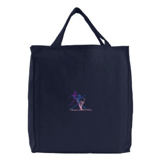 Small Drill Team Outline Embroidered Tote Bag