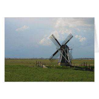 Small Dutch Windmill in Landscape Note Card