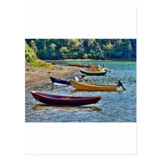 Small East Coast  Ftishermen Boats Postcard
