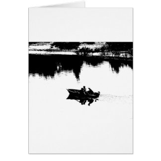 Small Fishing Boat in Pen and Ink Greeting Card