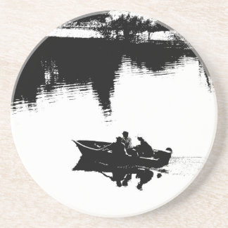 Small Fishing Boat in Pen and Ink Drink Coasters