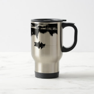 Small Fishing Boat in Pen and Ink Stainless Steel Travel Mug