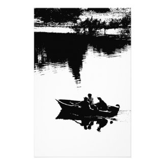 Small Fishing Boat in Pen and Ink Personalized Stationery