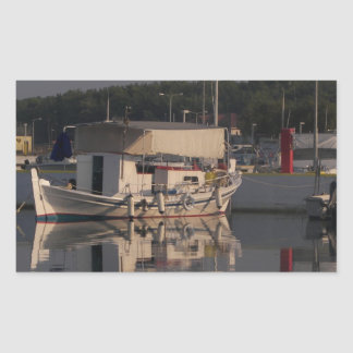 Small Fishing Boat Rectangular Sticker