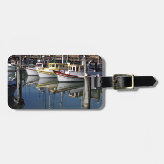 Small Fishing Boats Docked Luggage Tag