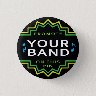 Small Flair Button Pin Band Music Self Promotion