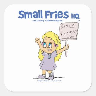 Small Fries HQ Ophelia Sticker Square