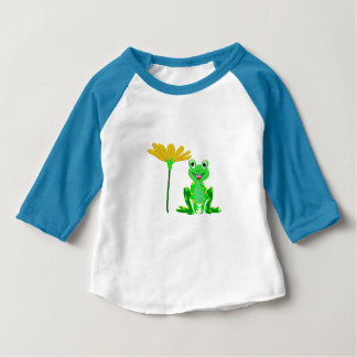 small frog and yellow flower baby T-Shirt