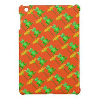 small frog and yellow flower case for the iPad mini