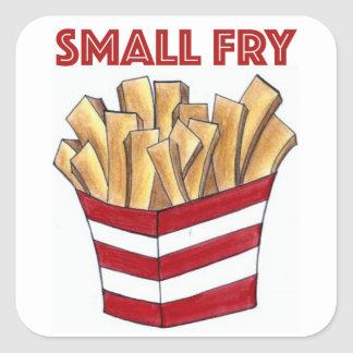 SMALL FRY Fast Food French Fries Foodie Stickers