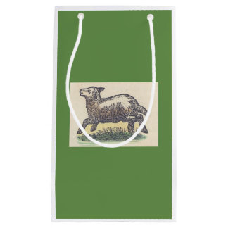 SMALL Gift Bag GAMBLING LAMB IN GREEN