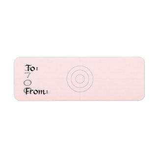 Small - Gift Tag Return Address Label