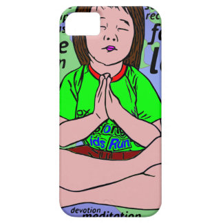 Small girl praying and meditating,sitting on earth barely there iPhone 5 case