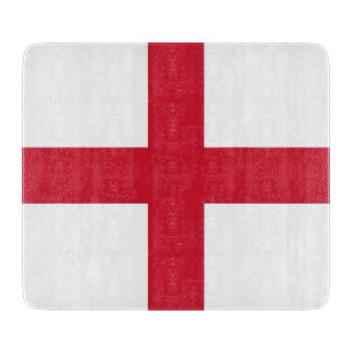 Small glass cutting board with England flag
