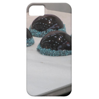 Small glazed chocolate cakes with hazelnut grains barely there iPhone 5 case