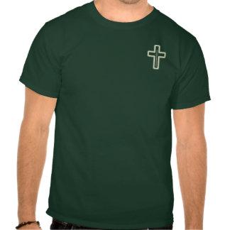 Small Glowing Cross & Sword Tee Shirts
