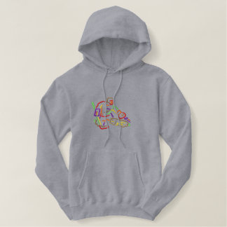 Small Goalie Outline Embroidered Hoodie