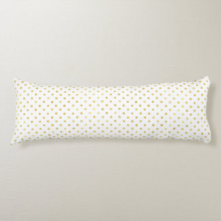 Small Gold Watercolor Polka Dot Pattern Body Cushion