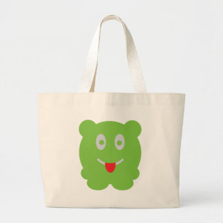 small green monster tote bag