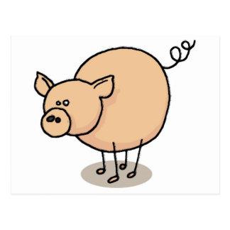 Small Gro-Gro pig Postcard