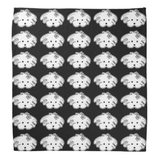 Small handkerchief black small dog, the world of bandana