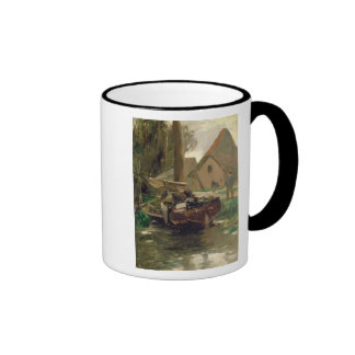 Small Harbour with a Boat Mugs