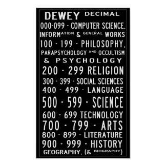 Small Home Library Dewey Decimal Busroll Poster