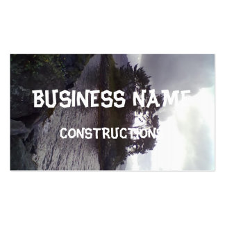 small island business card template