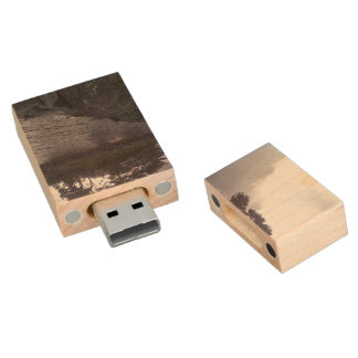 small island wood USB 2.0 flash drive