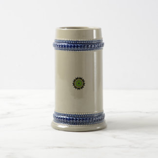 Small kaleidoscope abstract pattern beer steins