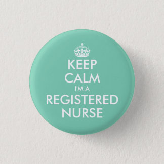 Small keep calm i'm a registered nurse buttons