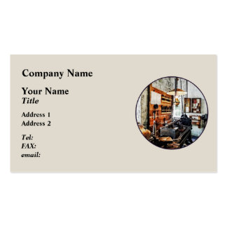 Small Lathe in Machine Shop Business Card Template