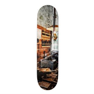 Small Lathe in Machine Shop Skateboard Deck