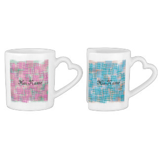 small lattice -romantic coffee mug set
