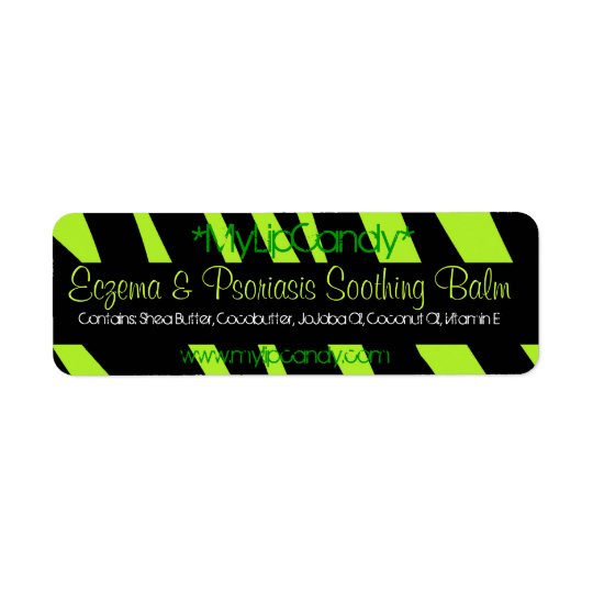 Small Lime Green Zebra Product Label
