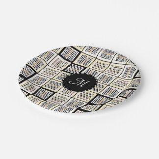 Small line segments paper plate